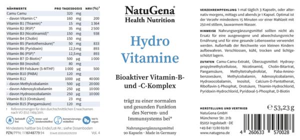 NatuGena_Hydro_Vitamine_Etikett